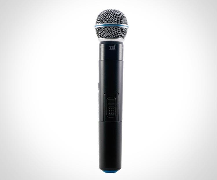 Microfone TSI MS-115-UHF PLUS Diversit Mão Sem Fio  - Luggi Instrumentos Musicais