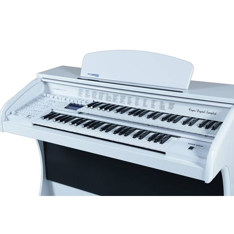 Órgão Acordes Série Gold Ax100 Branco  - Luggi Instrumentos Musicais