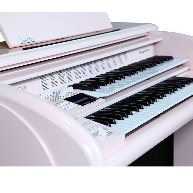 Órgão Acordes - AX 100 Top Elegance Rosa Claro  - Luggi Instrumentos Musicais