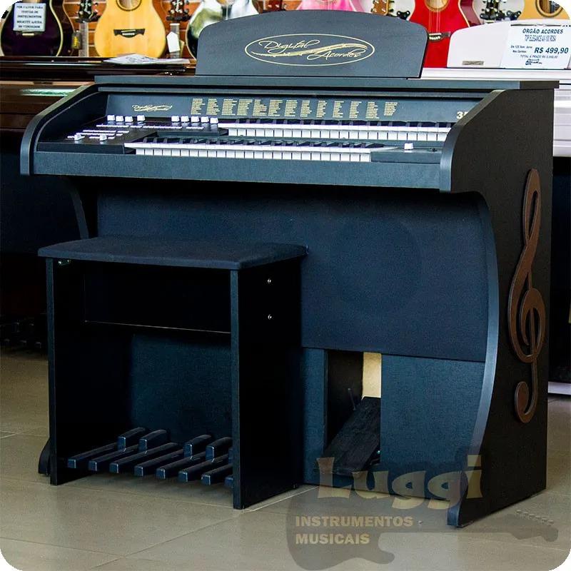 Órgão ACORDES - CLASSIC Preto Fosco - 49 Teclas  - Luggi Instrumentos Musicais