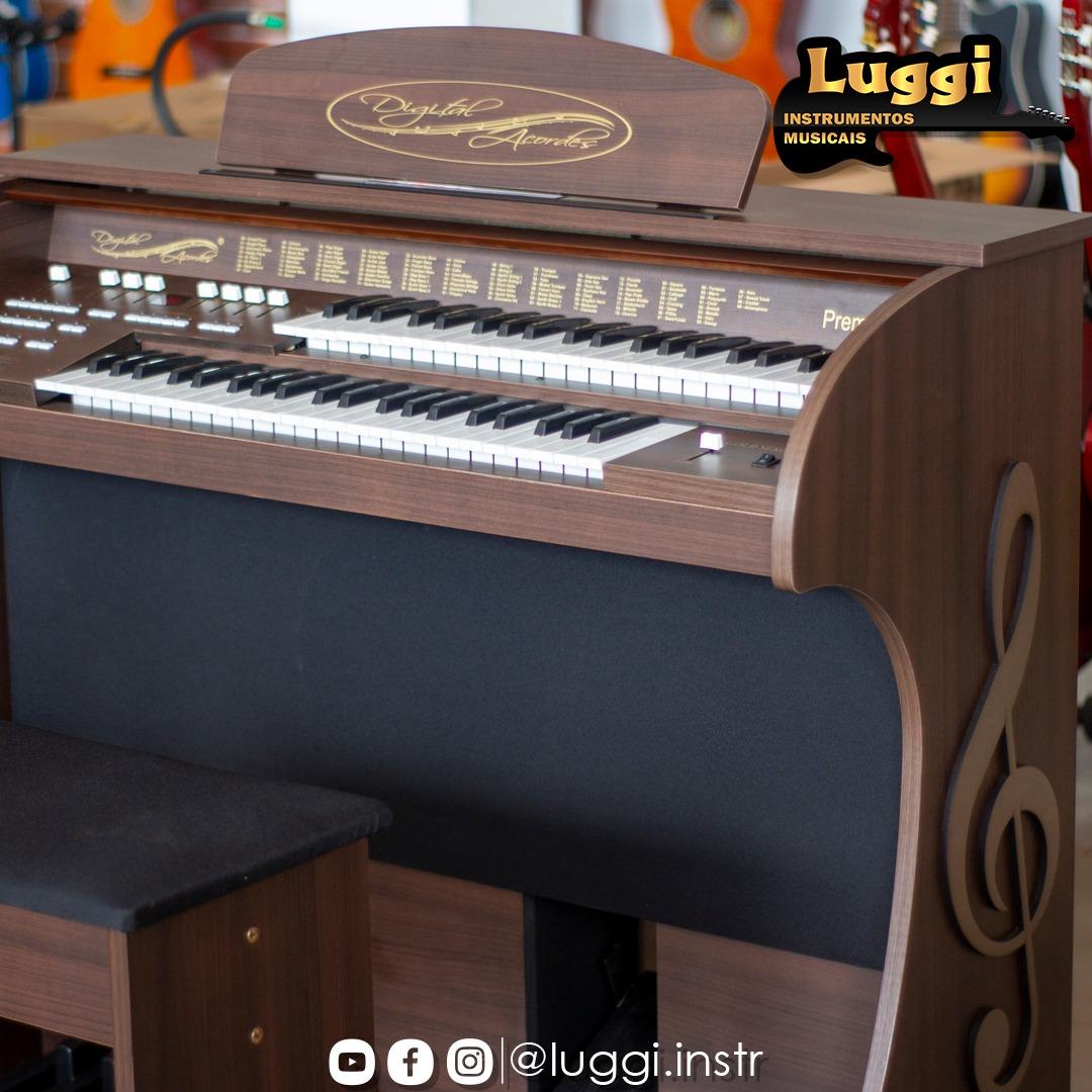Órgão Acordes - Premium Marrom Fosco c/ Clave de Sol  - Luggi Instrumentos Musicais