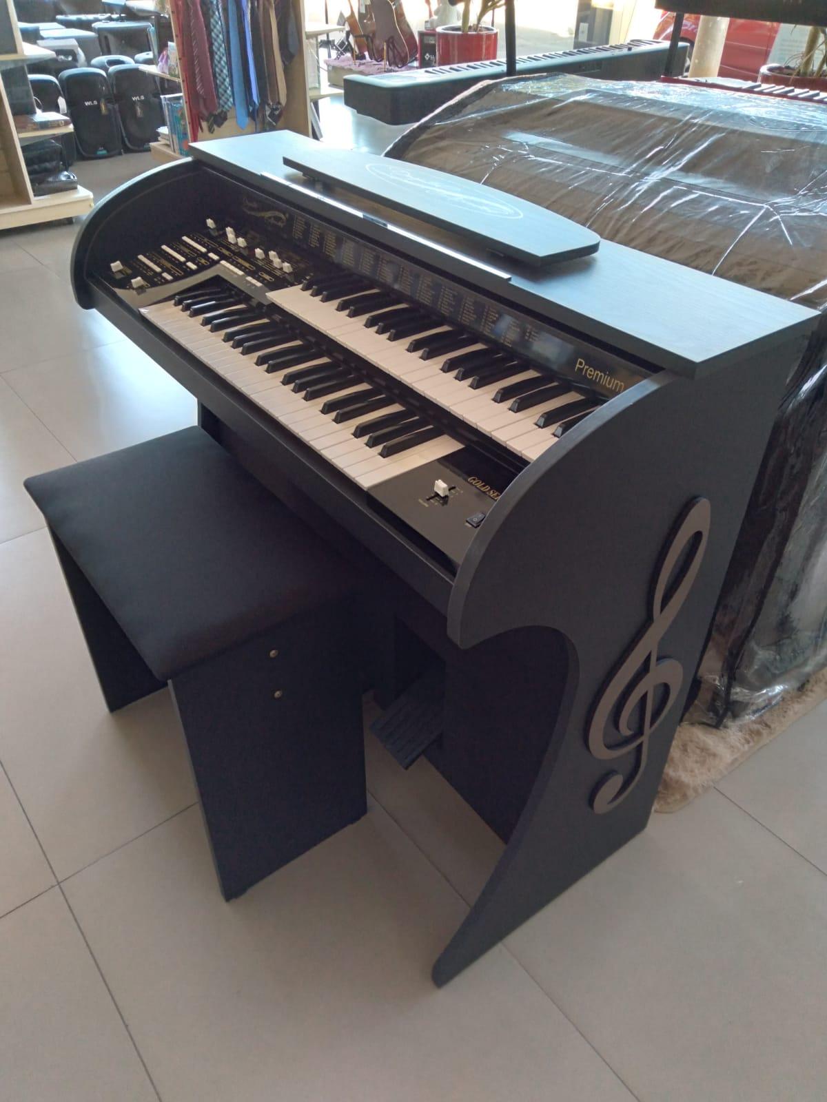 Órgão Acordes - Premium Preto Fosco  - Luggi Instrumentos Musicais
