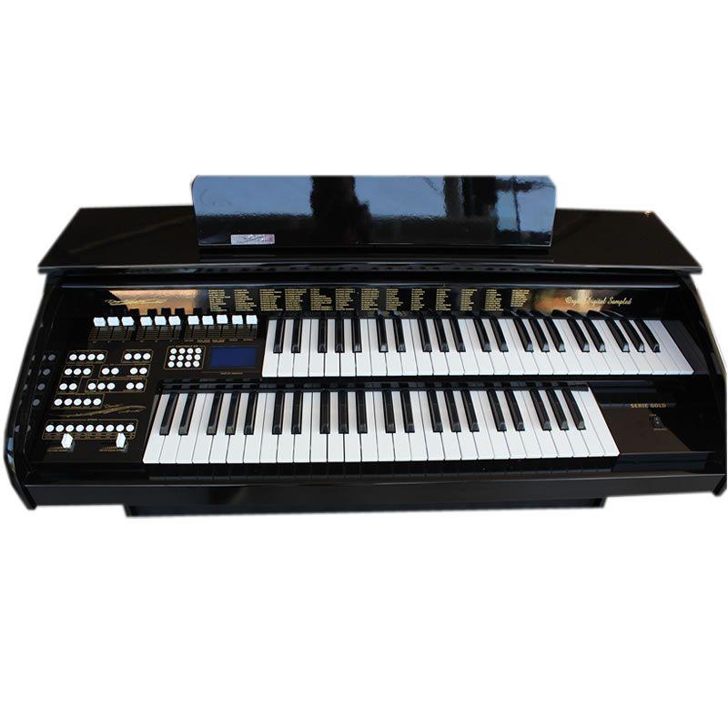 Órgão Acordes Série Gold Ax100 Preto - 49 Teclas  - Luggi Instrumentos Musicais
