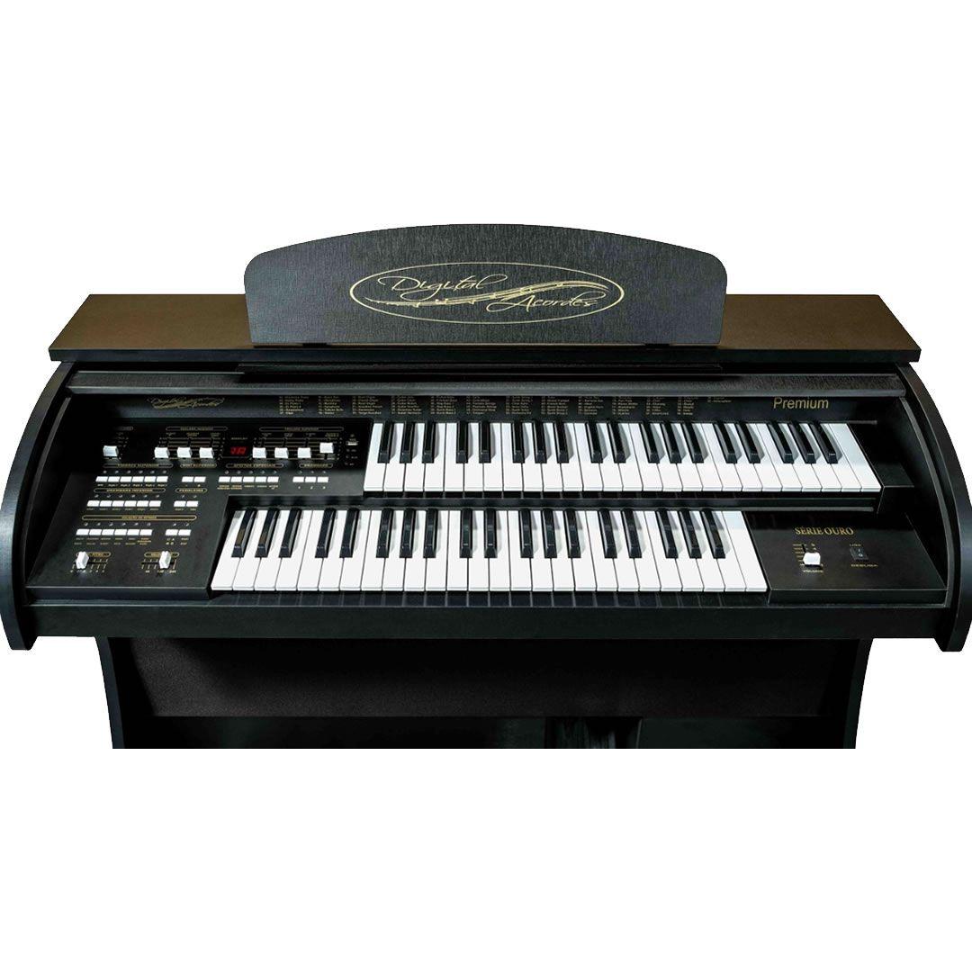 Órgão Acordes - Premium Preto Fosco c/ Clave de Sol  - Luggi Instrumentos Musicais