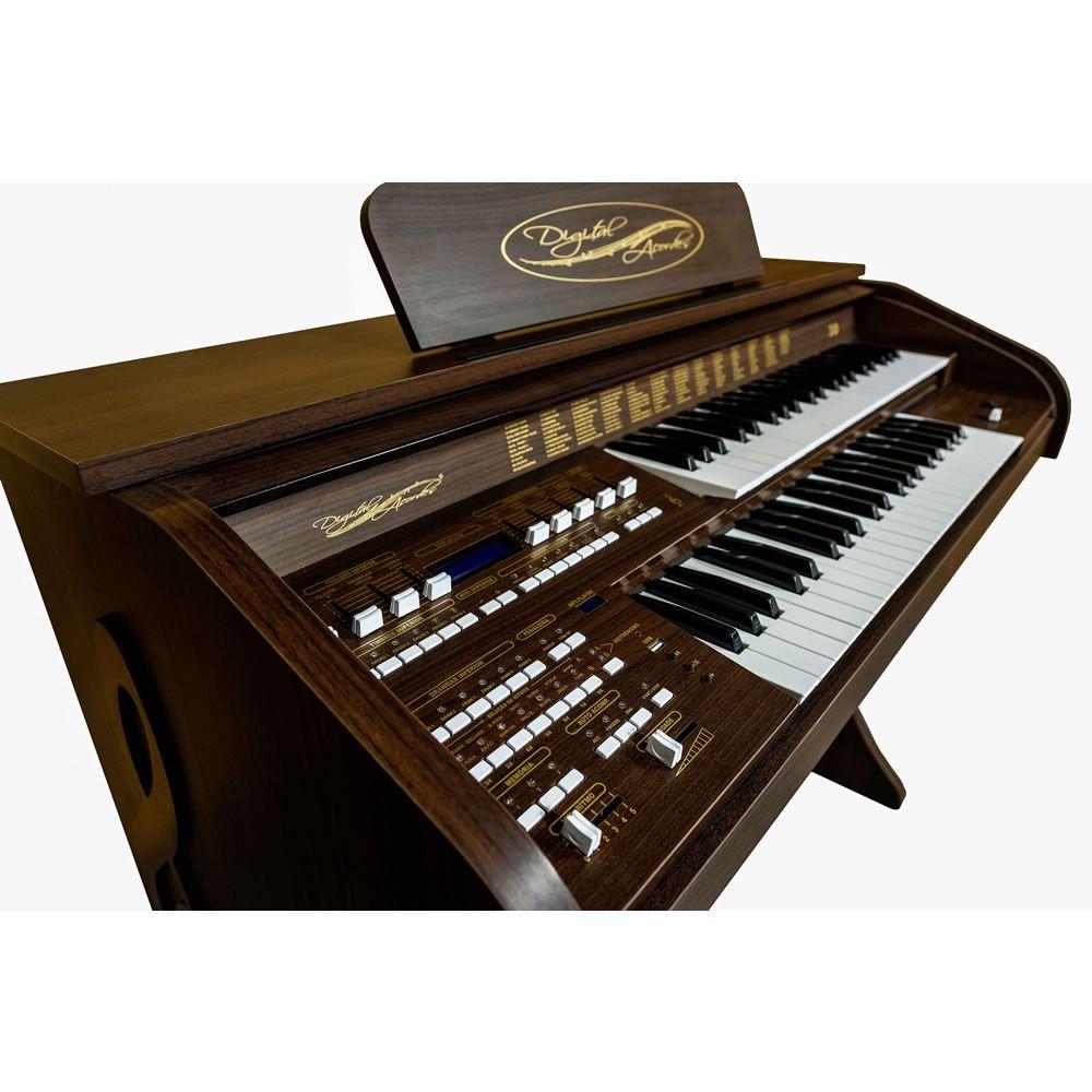 Órgão Acordes - 3D Marrom Fosco c/ Clave de Sol  - Luggi Instrumentos Musicais