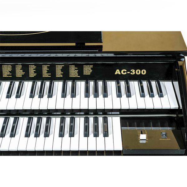 Órgão Acordes - AC300 Preto Auto Brilho - 49 Teclas  - Luggi Instrumentos Musicais