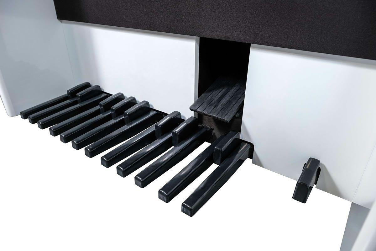 Órgão Acordes - AC500 Elegance Branco BRILHO - 61 Teclas  - Luggi Instrumentos Musicais