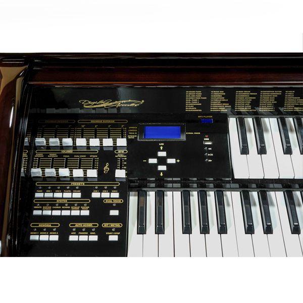 Órgão Acordes - AC500 Elegance Imbuia - 61 Teclas  - Luggi Instrumentos Musicais