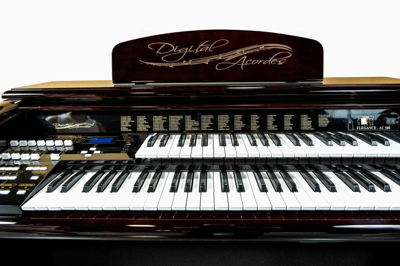 Órgão Eletrônico Digital Acordes - AX 100 Top Elegance Imbuia - 61 Teclas  - Luggi Instrumentos Musicais