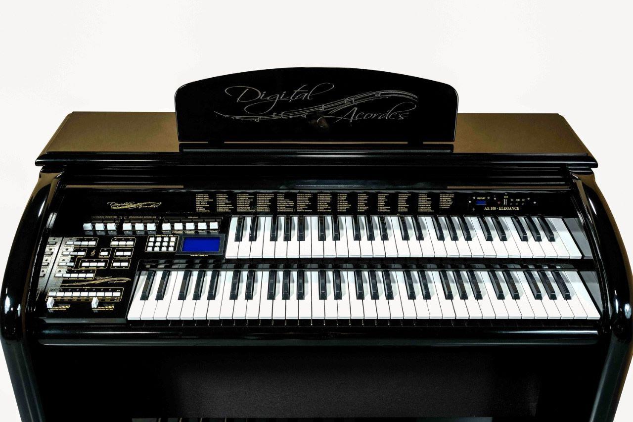 Órgão Digital Acordes - AX 100 Top Elegance Preto  - Luggi Instrumentos Musicais