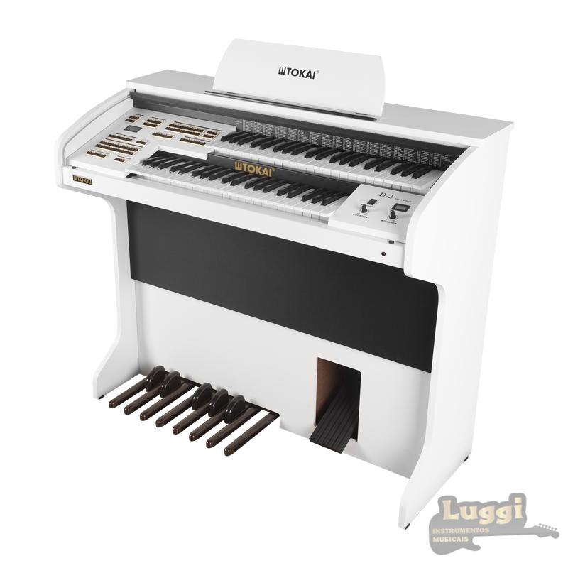 Órgão Tokai D2 Branco dual voice  - Luggi Instrumentos Musicais
