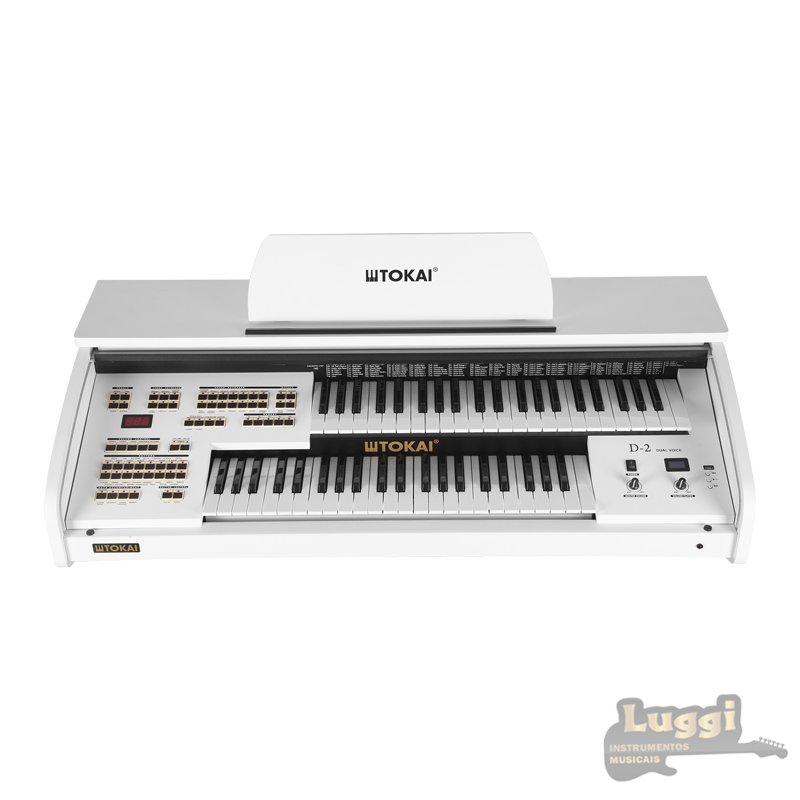 Órgão Tokai D2 Branco  - Luggi Instrumentos Musicais