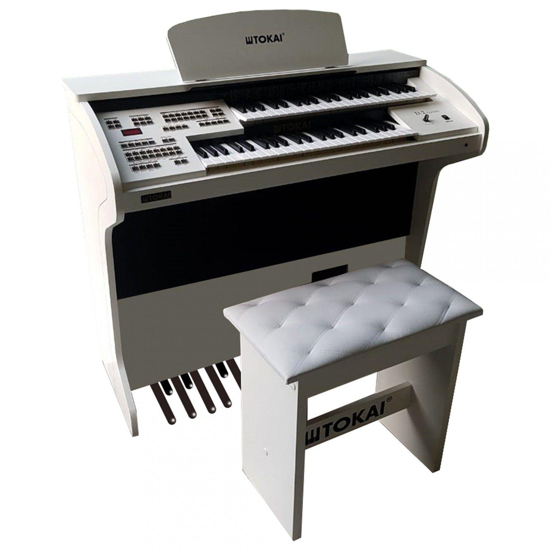 Órgão Eletrônico Tokai D2 Classic Branco  - Luggi Instrumentos Musicais