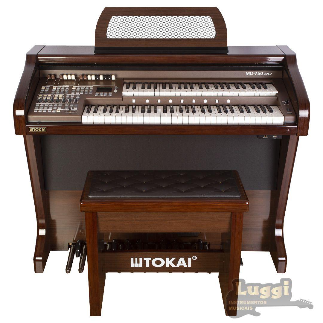 Órgão Tokai Md-750 Gold Marrom  - Luggi Instrumentos Musicais
