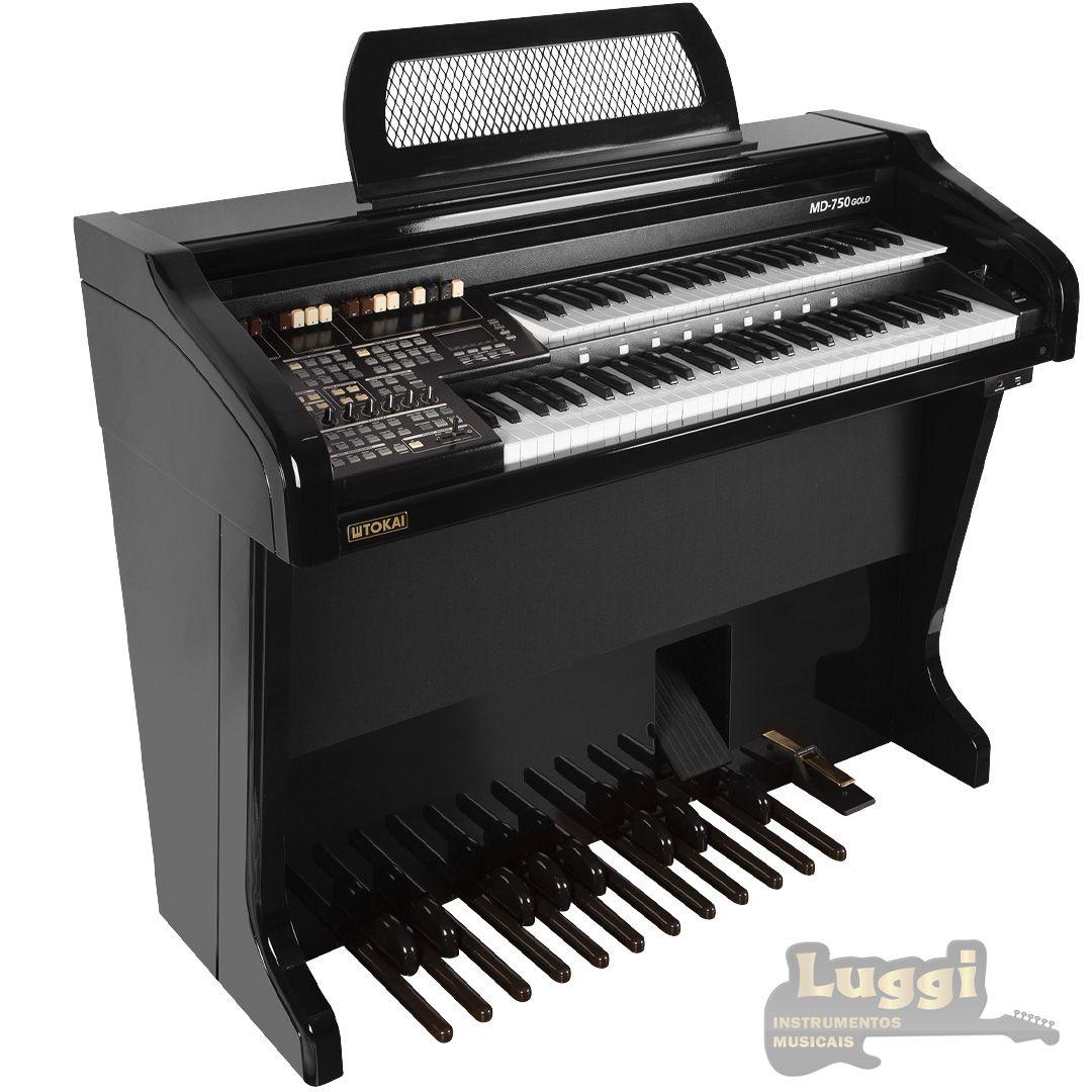Órgão Tokai Md-750 Gold Preto  - Luggi Instrumentos Musicais