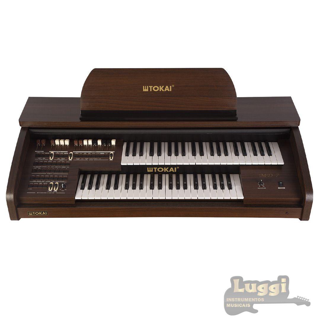 Órgão Eletrônico Tokai Md-7 Marrom  - Luggi Instrumentos Musicais