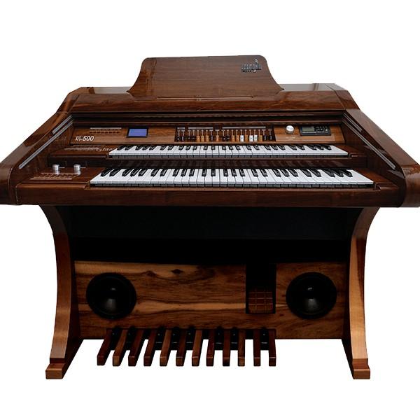 Órgão Hamonia HS-500 Marrom Auto Brilho - 61 Teclas  - Luggi Instrumentos Musicais