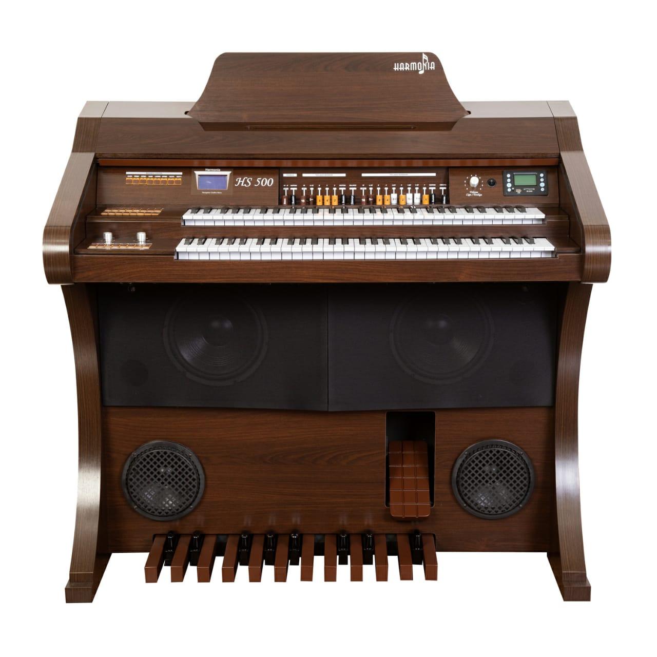 Órgão Hamonia HS-500 Marrom Fosco - 61 Teclas  - Luggi Instrumentos Musicais