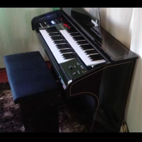 Orgao Harmonia HS75 Preto BRILHO  - Luggi Instrumentos Musicais