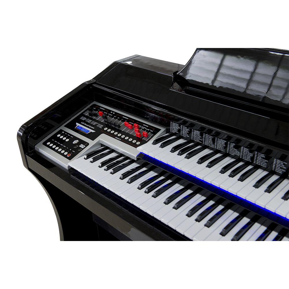 Órgão Harmonia HS-200 Super Preto Auto Brilho - 49 Teclas  - Luggi Instrumentos Musicais