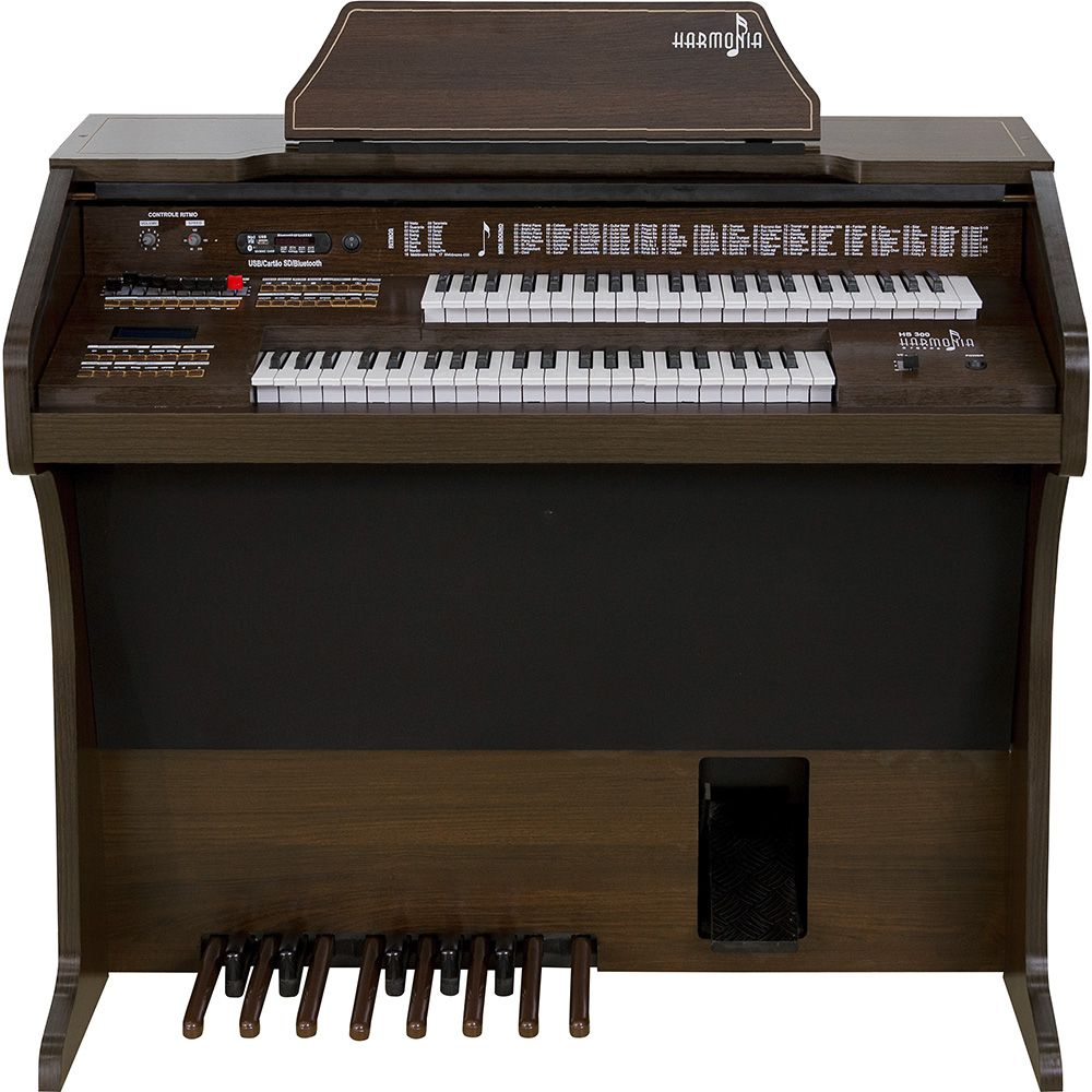 Órgão Harmonia HS-300 Tabaco  - Luggi Instrumentos Musicais