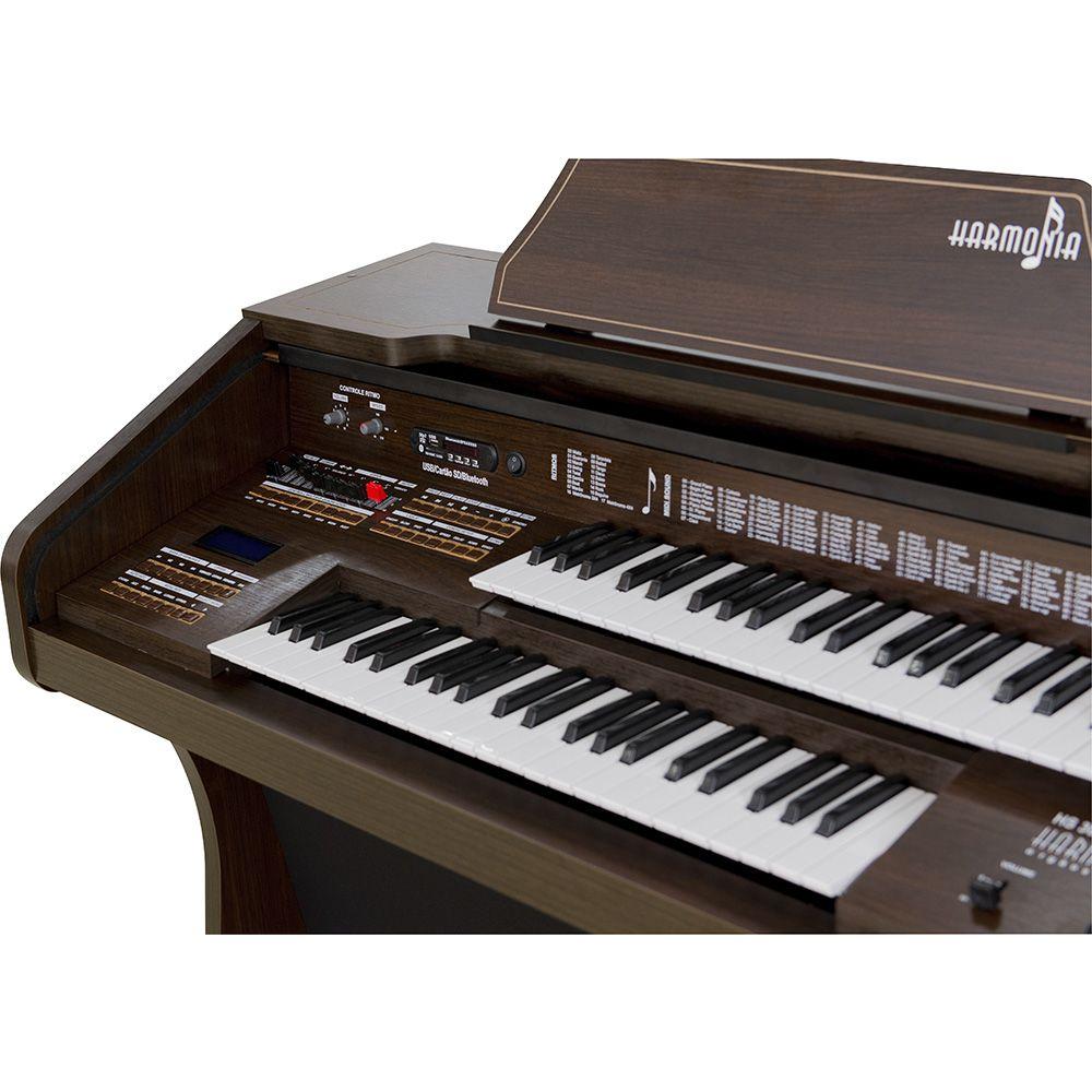 Órgão Harmonia HS-300 Marrom Fosco  - Luggi Instrumentos Musicais