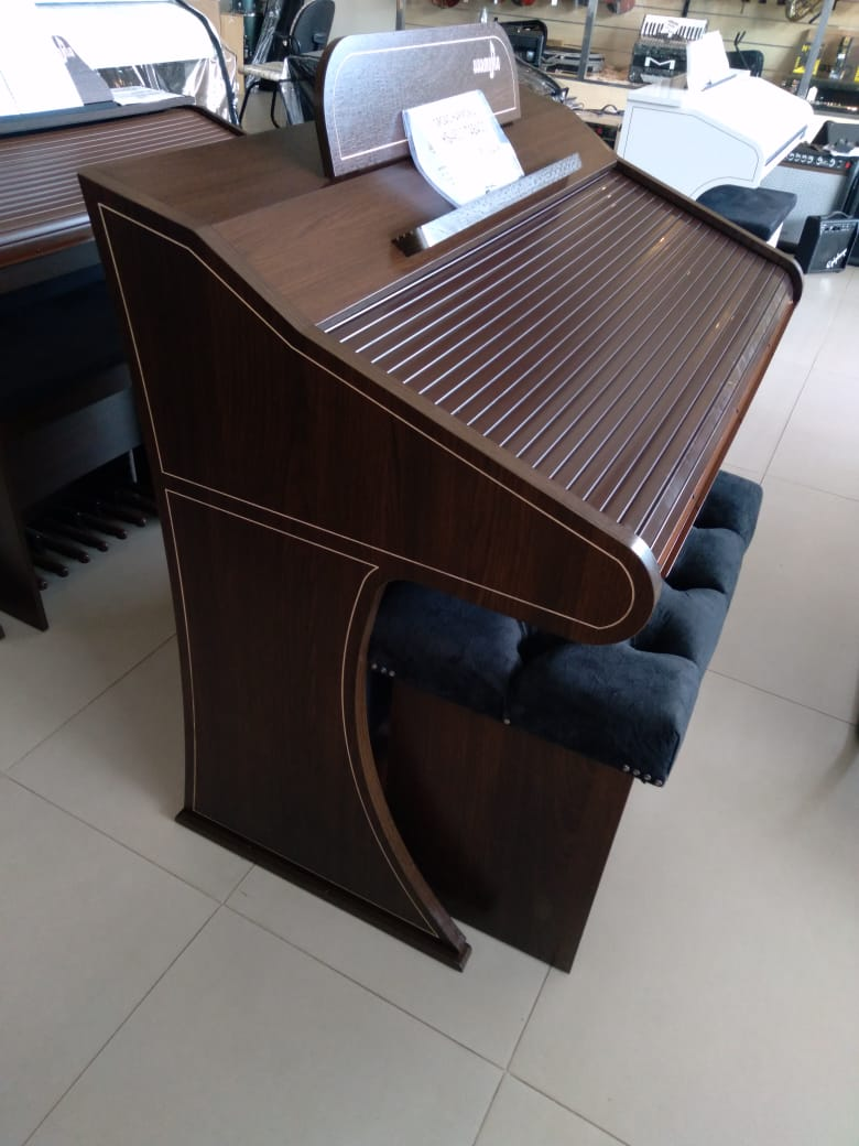 Órgão Harmonia HS-450 Tabaco - 49 Teclas  - Luggi Instrumentos Musicais