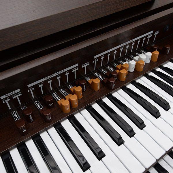 Órgão Harmonia HS-450 Marrom Fosco - 49 Teclas  - Luggi Instrumentos Musicais