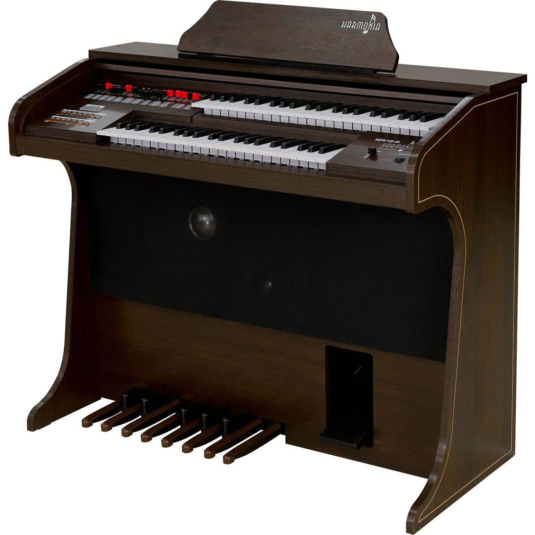 Órgão Harmonia HS-50 Marrom Fosco  - Luggi Instrumentos Musicais