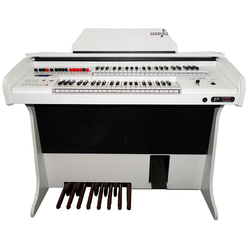 Órgão Harmonia HS-75 Branco Brilho  - Luggi Instrumentos Musicais