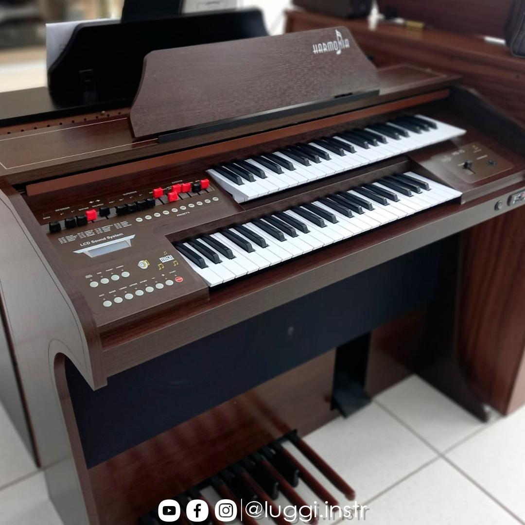 Órgão Harmonia HS-75 Tabaco  - Luggi Instrumentos Musicais
