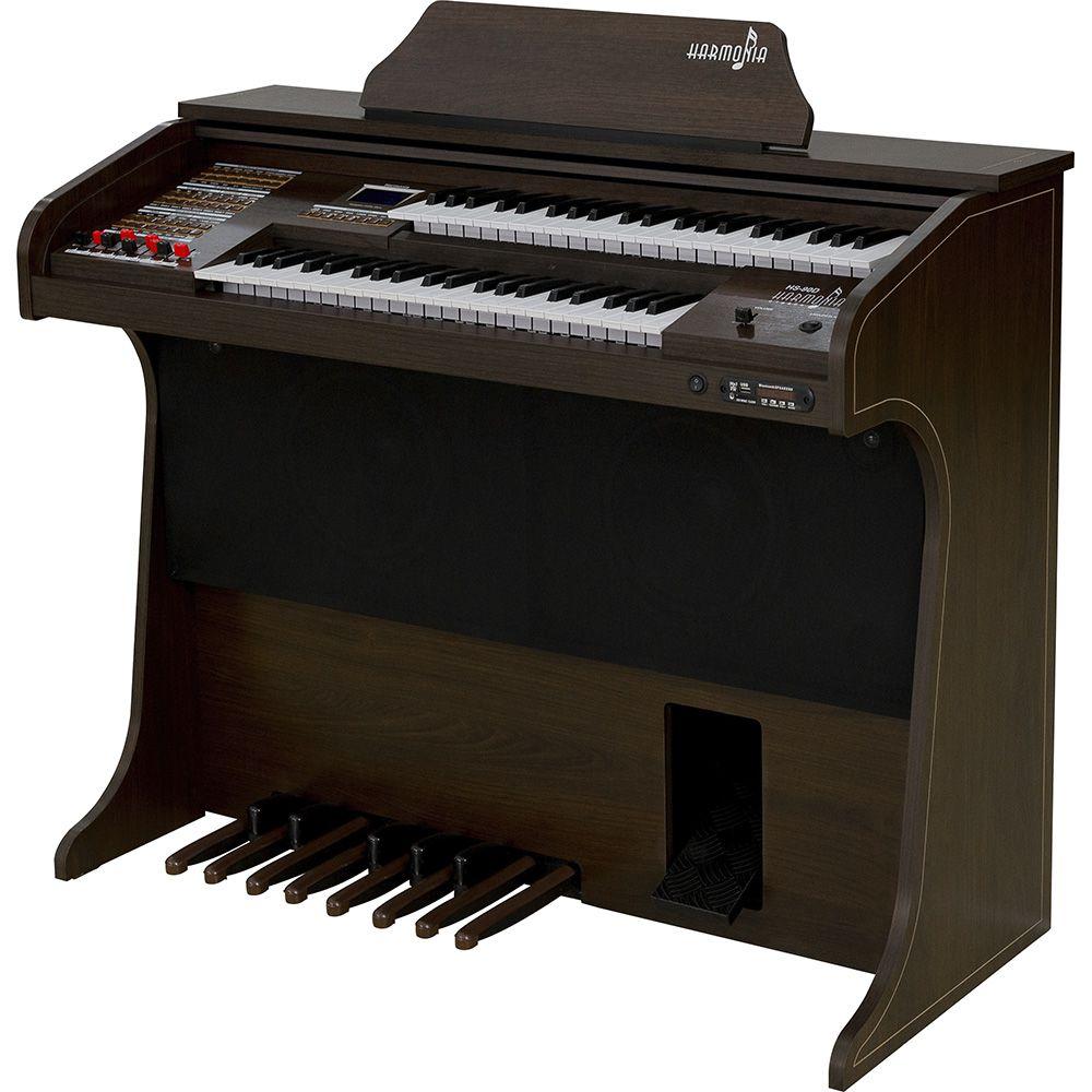 Órgão Harmonia HS-90D Tabaco  - Luggi Instrumentos Musicais