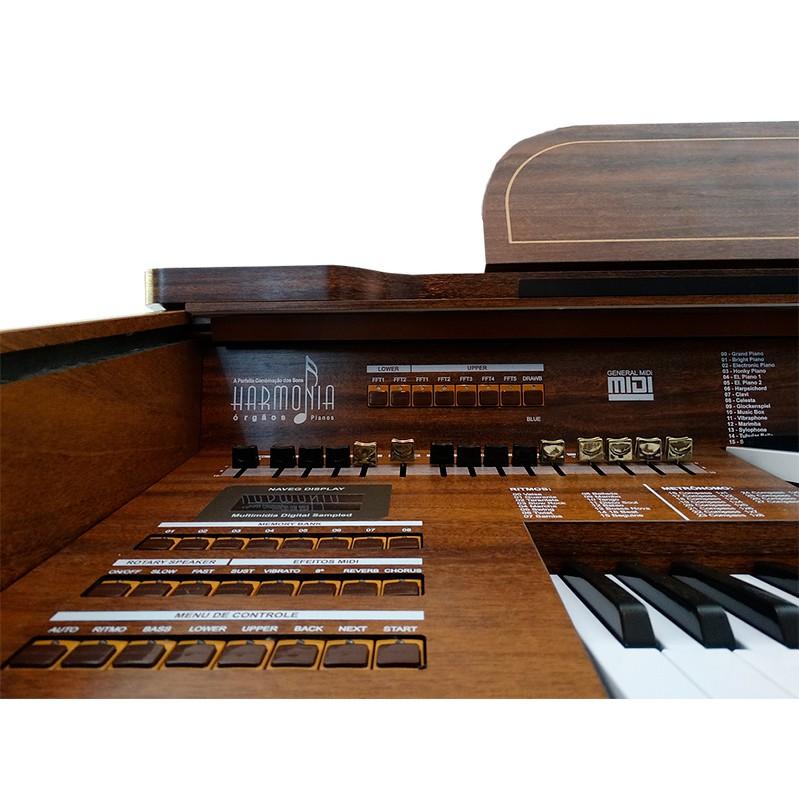 Órgão Harmonia HS-95 - imbuia  - Luggi Instrumentos Musicais