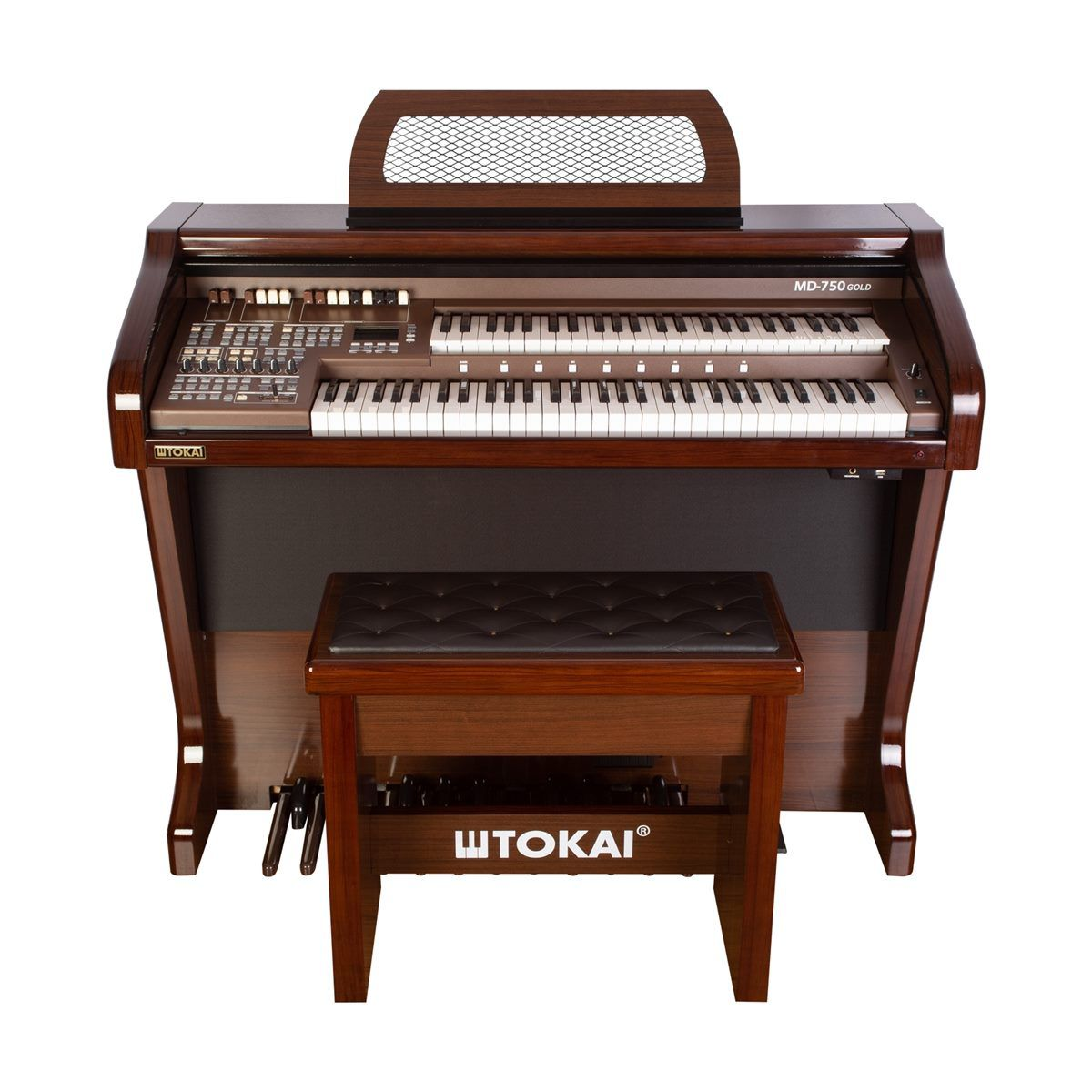 Órgão Tokai Md750 Gold Marrom  - Luggi Instrumentos Musicais