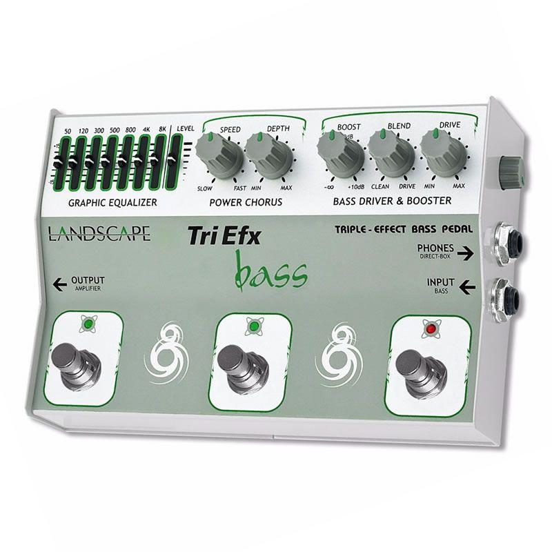Pedal Landscape Baixo Triefx Bass Tribs C/Fonte  - Luggi Instrumentos Musicais