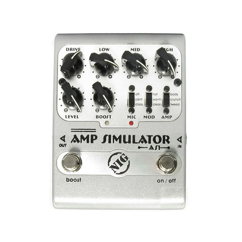 Pedal Nig Amp Simulator  - Luggi Instrumentos Musicais