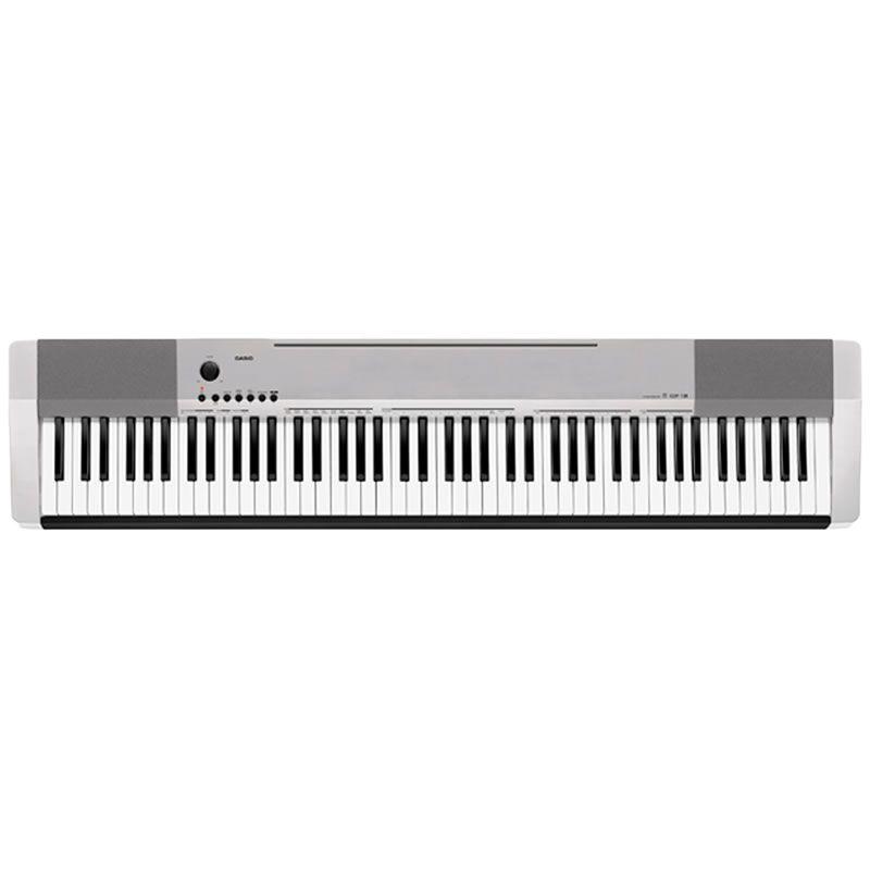 Piano Casio Cdp130 Cinza  - Luggi Instrumentos Musicais