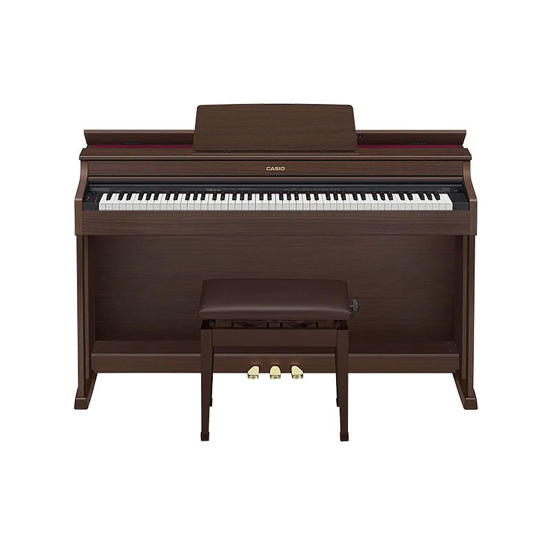PIANO CASIO CELVIANO AP470 MARROM  - Luggi Instrumentos Musicais