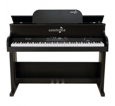 Piano Harmonia Hs-88 Roma Preto Fosco  - Luggi Instrumentos Musicais