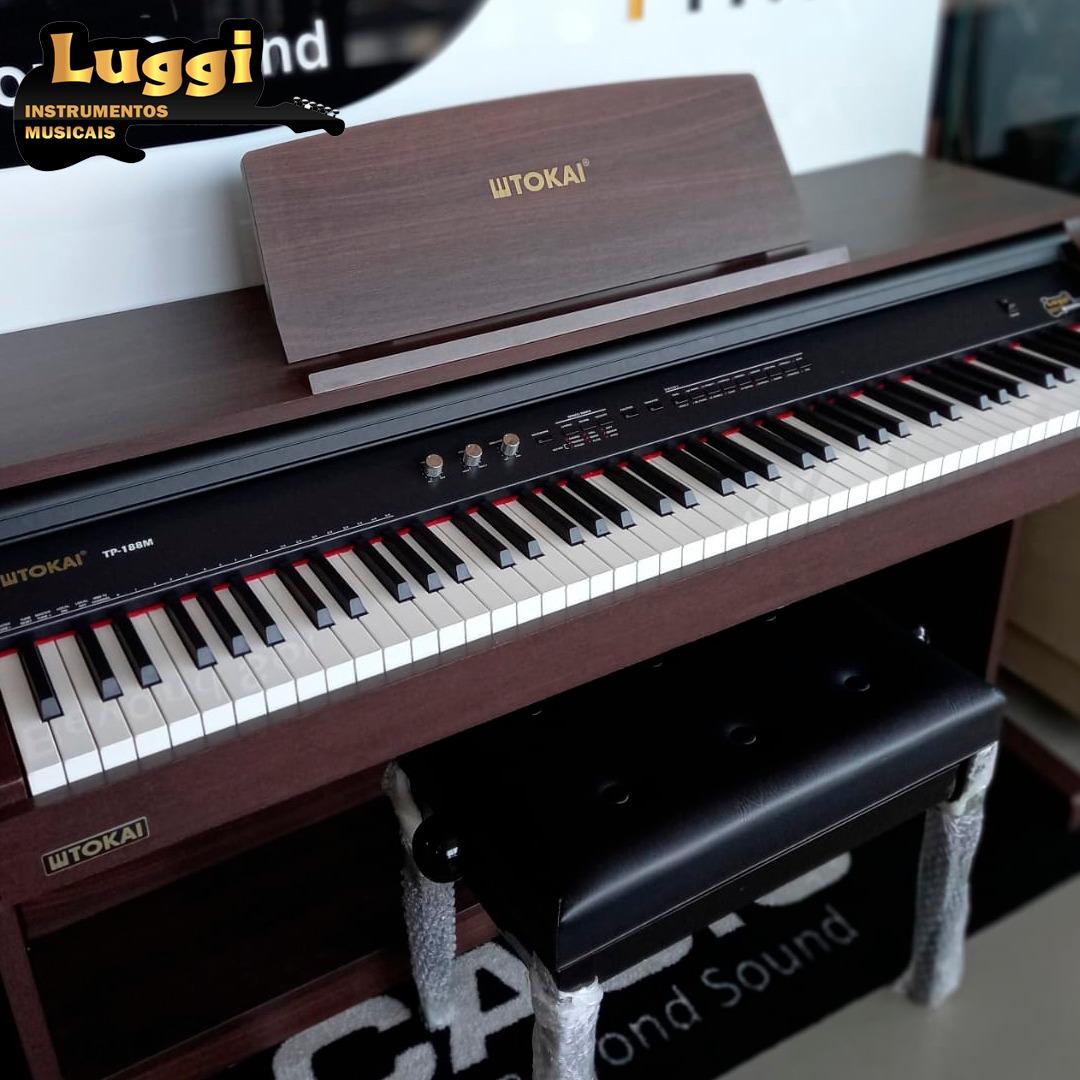 Piano Tokai Tp188M Marrom Digital  - Luggi Instrumentos Musicais