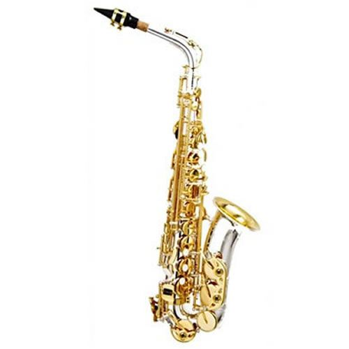 Sax Alto Hoyden Has-50 Prata E Dourado  - Luggi Instrumentos Musicais
