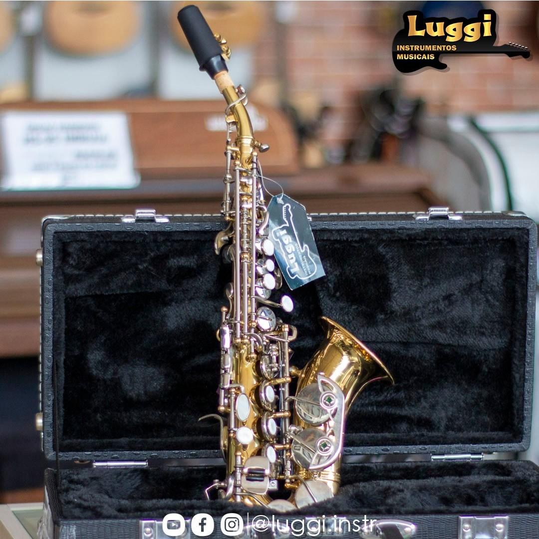 Sax Sopranino Schieffer Laqueado/Niquelado  - Luggi Instrumentos Musicais