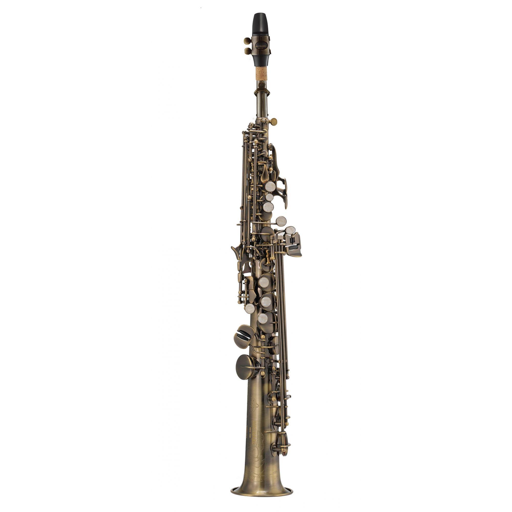 Sax Soprano Michael Wssm46 Escovado  - Luggi Instrumentos Musicais