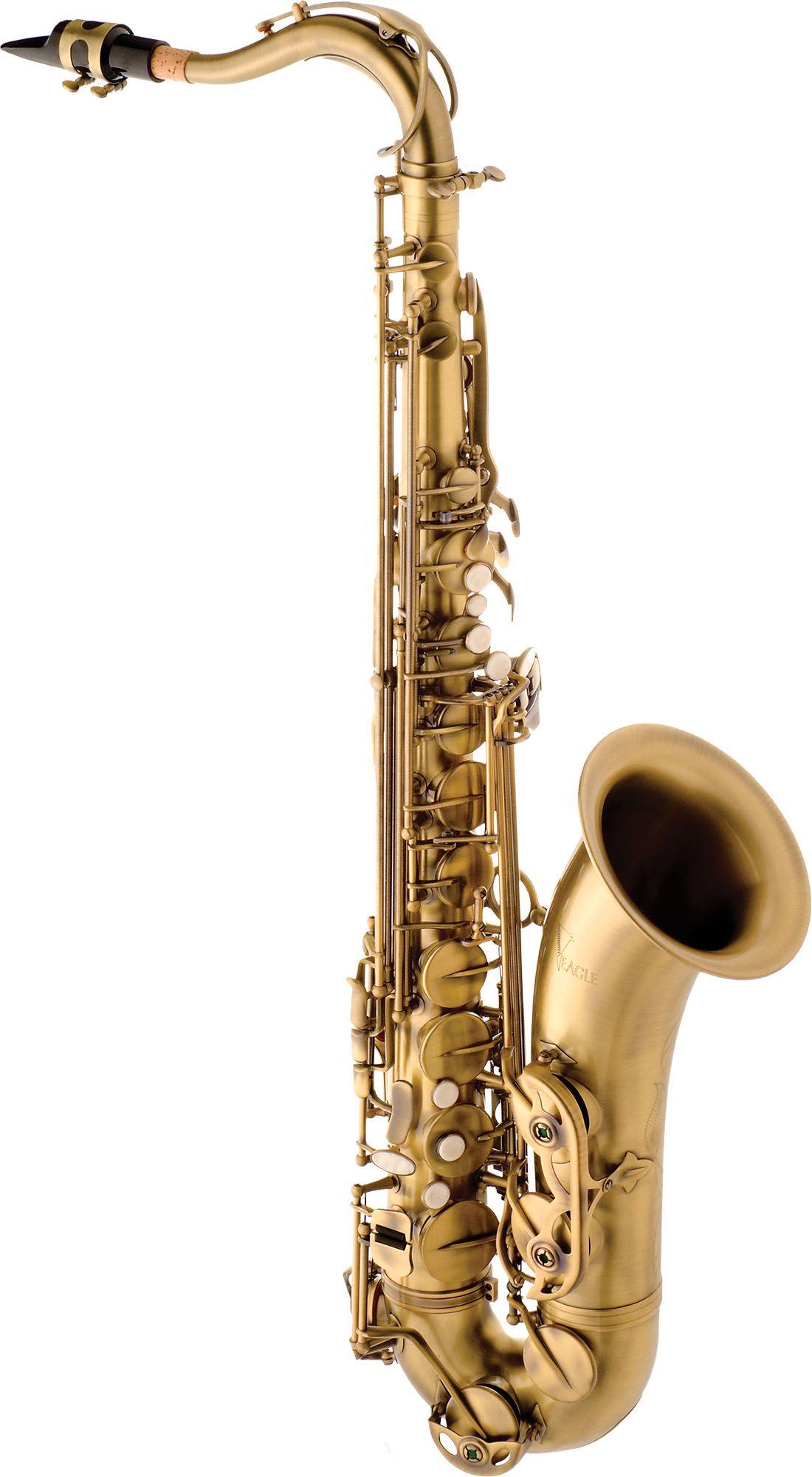 Sax Tenor Eagle St503 Vg Dourado Escovado  - Luggi Instrumentos Musicais