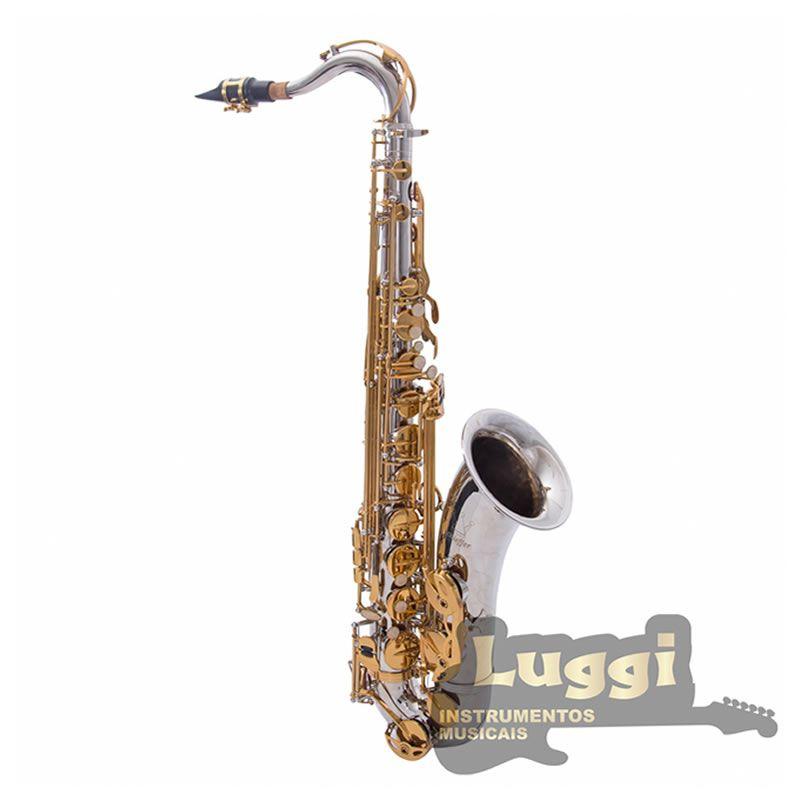Sax Tenor Schieffer Niquelado/Laqueado Schts006  - Luggi Instrumentos Musicais