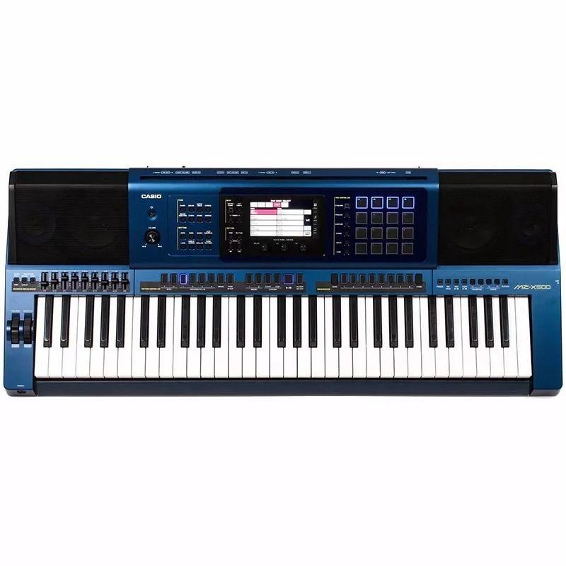 Teclado Casio Mz X500 Azul C/Fonte  - Luggi Instrumentos Musicais