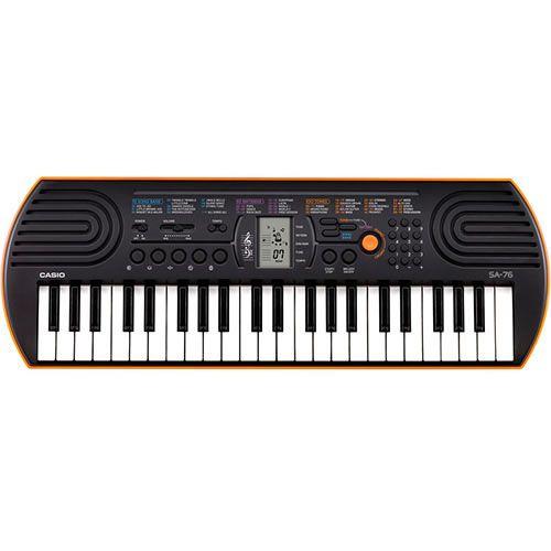 Teclado Casio Sa76 Infantil Laranja  - Luggi Instrumentos Musicais