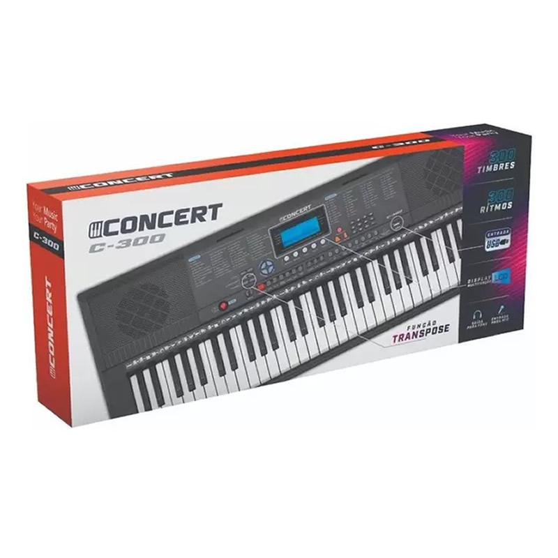 TECLADO CONCERT C300 61 TECLAS  - Luggi Instrumentos Musicais