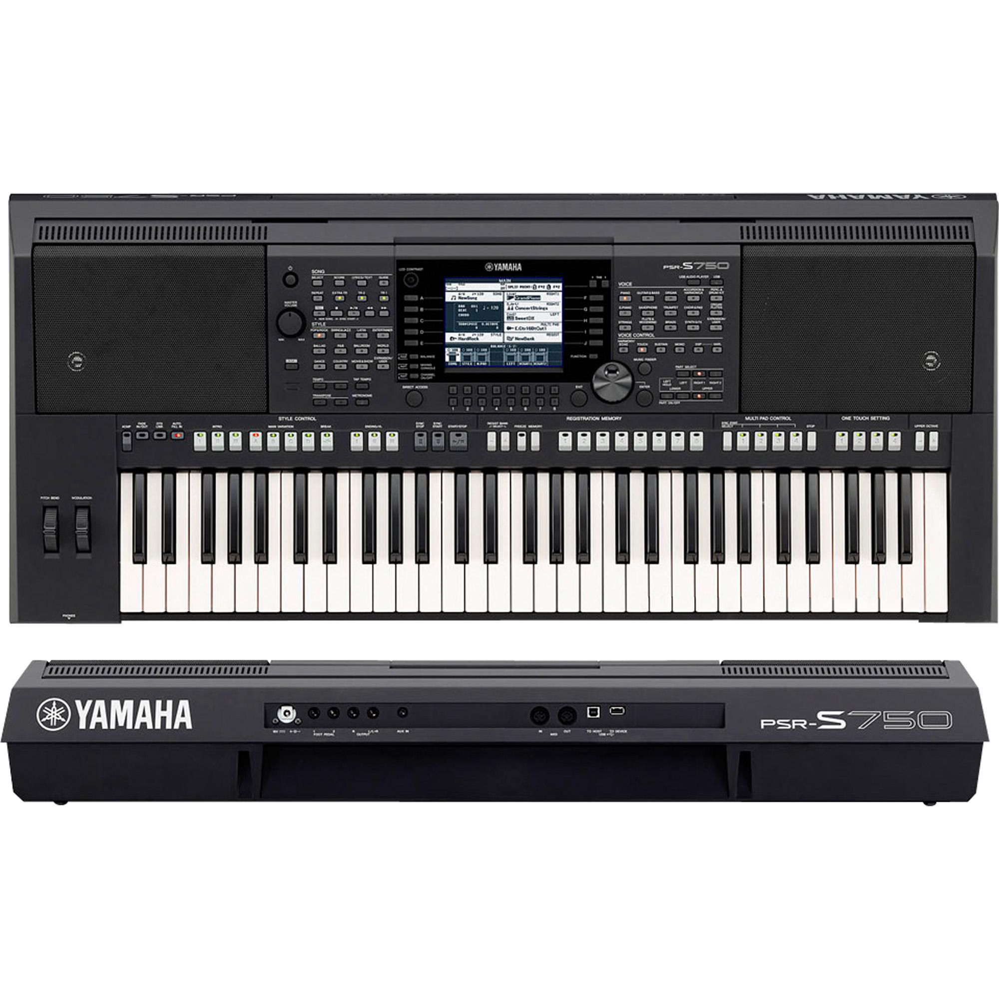 Teclado Yamaha Psr S750  - Luggi Instrumentos Musicais