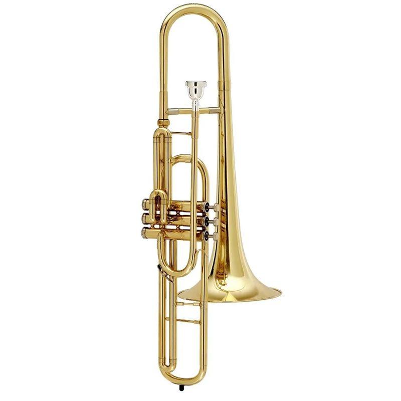 Trombone Pisto Eagle Tv603 Sib Laqueado Curto  - Luggi Instrumentos Musicais